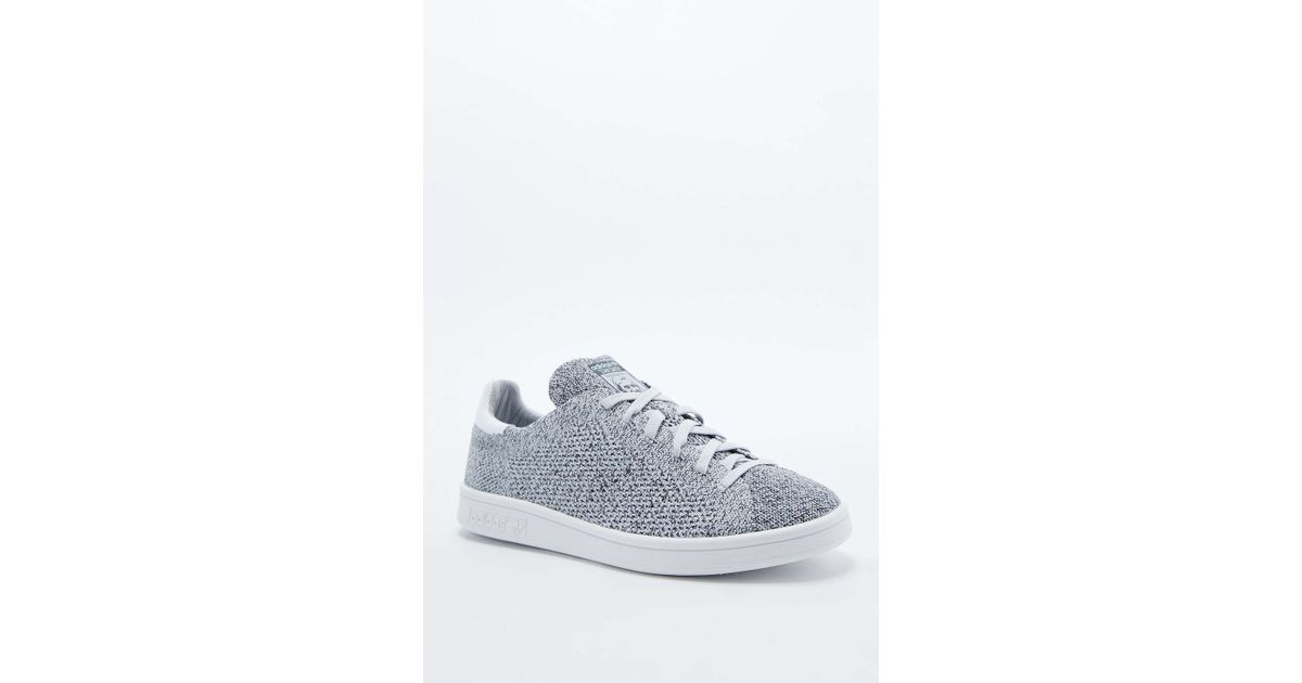 online retailer 2bfad 92304 Adidas - Gray Stan Smith Knit Trainers In Grey - Lyst