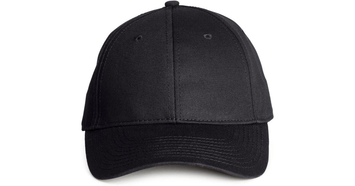 Lyst - H M Cotton Cap in Black for Men 5c3d98097ee