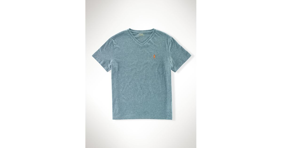 9f5453d3d closeout lyst polo ralph lauren classic fit cotton v neck tee in blue for  men 81ab3