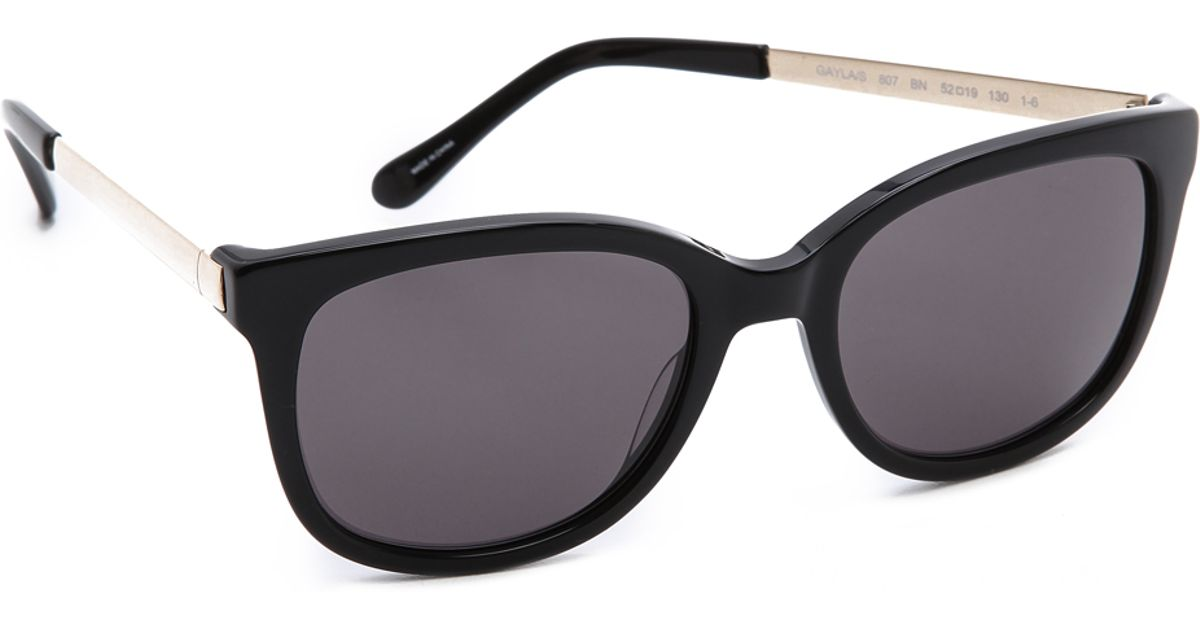 17c53df6f0796 Kate Spade Gayla Sunglasses in Black - Lyst
