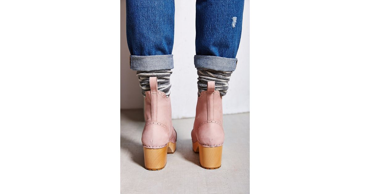 0fa8f5773b2e Lyst - Swedish Hasbeens Grandma Plateau Boot in Pink