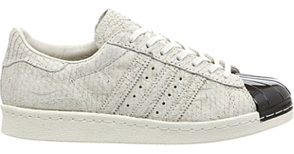 65be91f5f5c6 adidas Superstar 80 s Metal-toe Trainers - For Women in White - Lyst