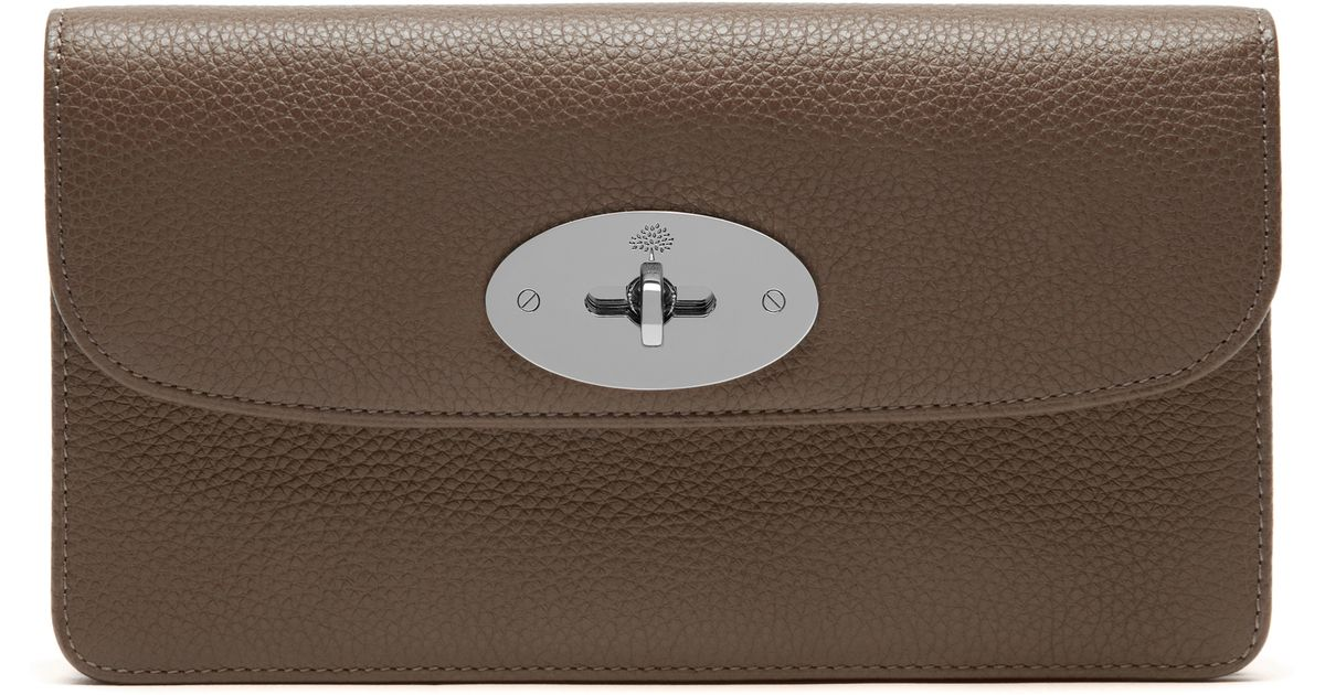 Mulberry Long Locked Purse In Brown Lyst