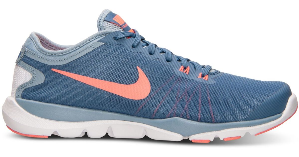 0ee2b3ed841 Lyst - Nike Women s Flex Supreme Tr 4 Training Sneakers From Finish Line in  Blue