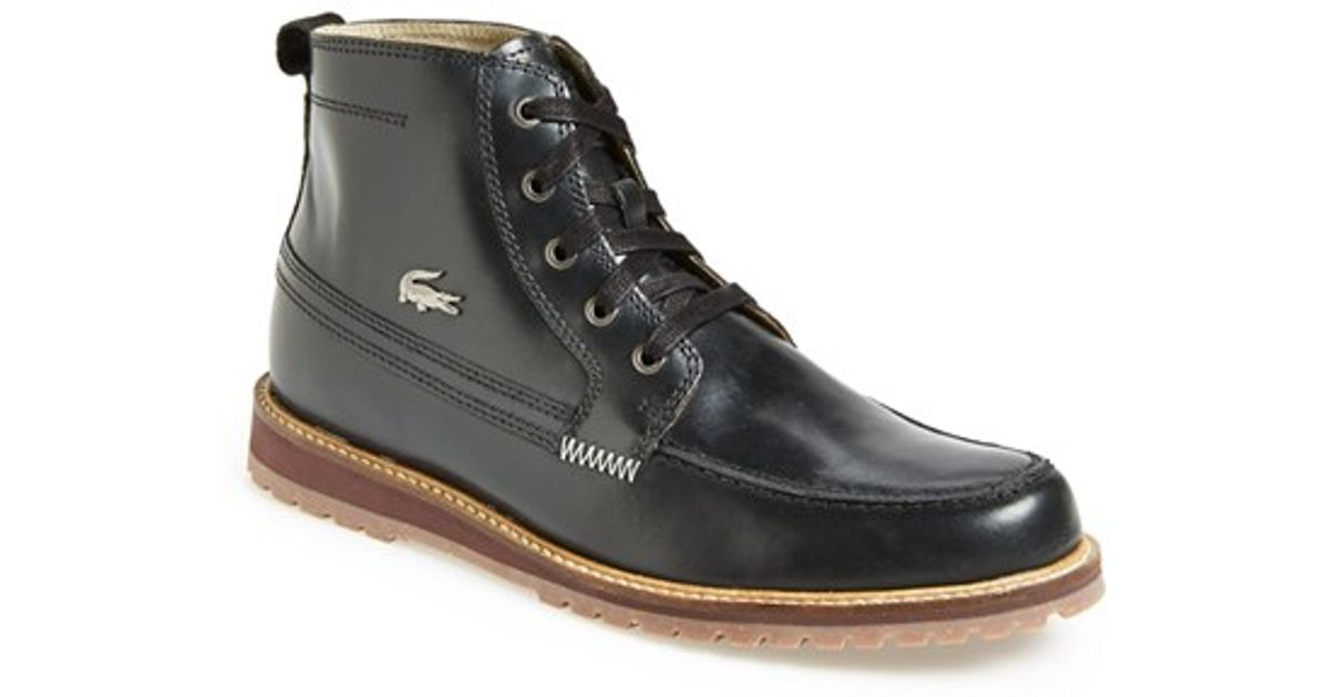 86cc8bc1364880 Lyst - Lacoste  marceau 5  Apron Toe Boot in Black for Men