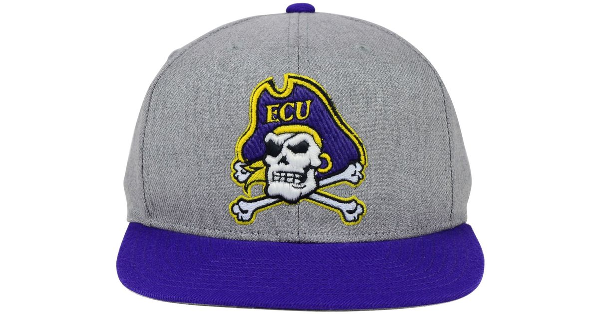 size 40 537b2 6ca22 ... best price lyst sports licensed division adidas east carolina pirates  stacked box snapback cap in gray