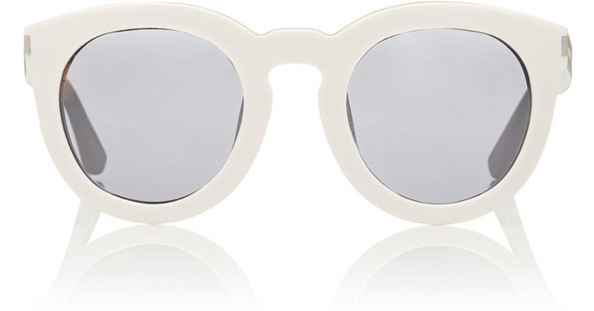 c7b0499c710 Lyst - Saint Laurent Women s Sl 102 Surf Sunglasses in White