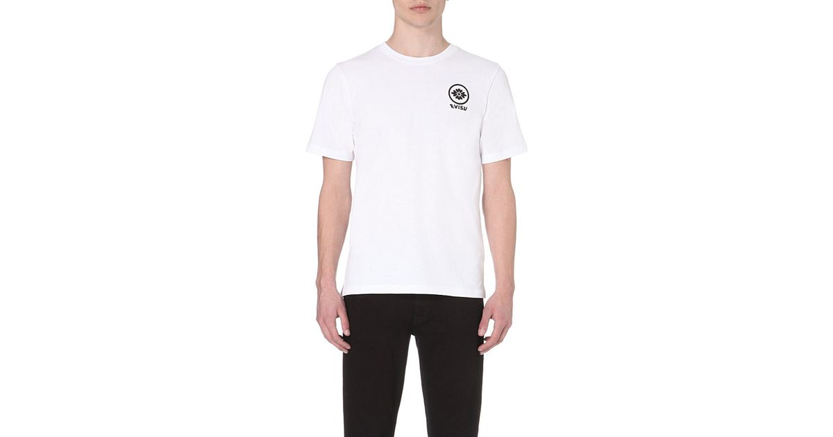 22c00f23e9ce Evisu Logo And Text-Print Cotton T-Shirt - For Men in White for Men - Lyst