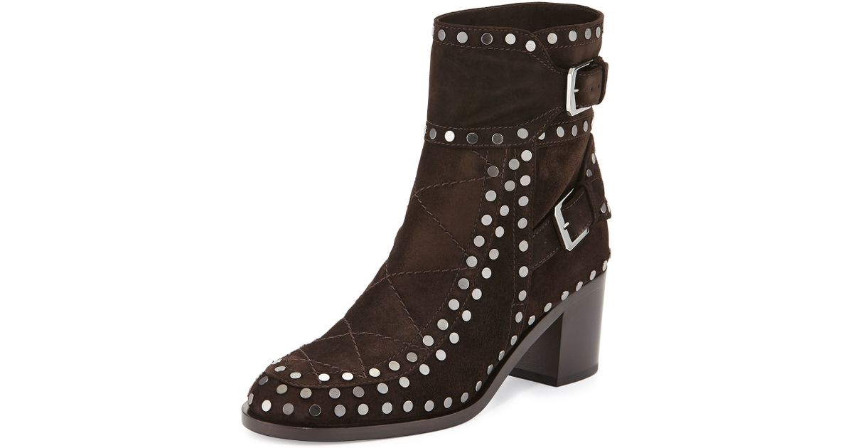 laurence dacade gatsby studded ankle boot in brown