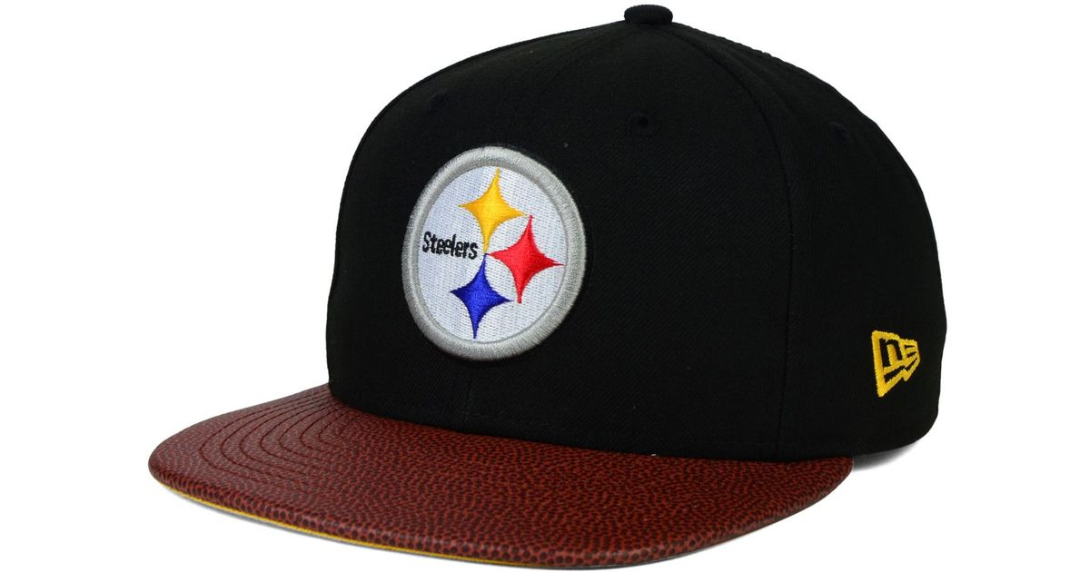 promo code 81ca3 1d571 ... low price lyst ktz pittsburgh steelers super bowl xiv athlete vize  9fifty snapback cap in black