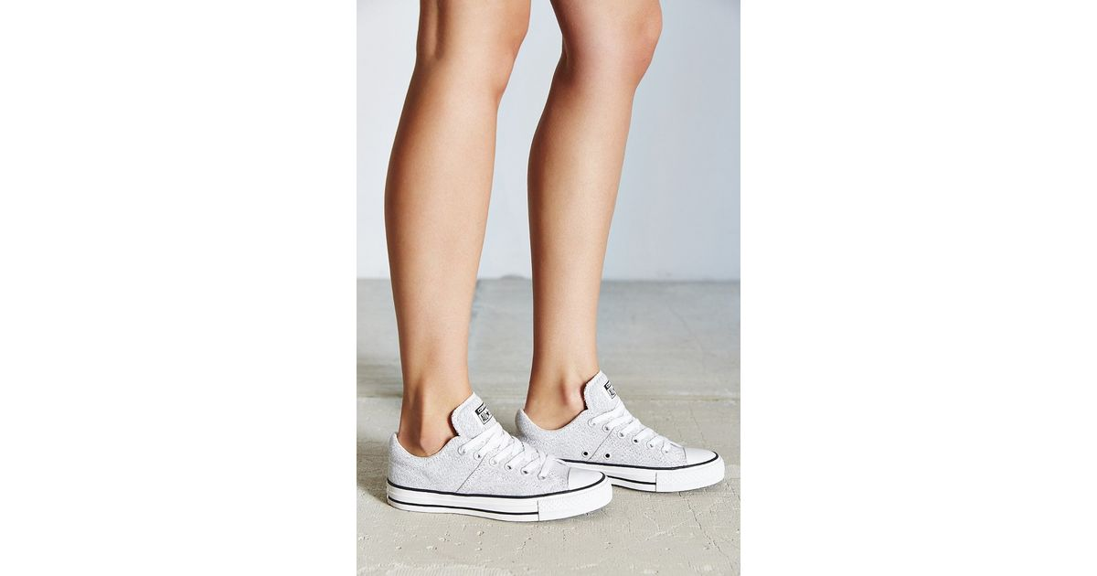 24a8bf3f2bb5b Lyst - Converse Chuck Taylor All-star Heathered Sneaker in White