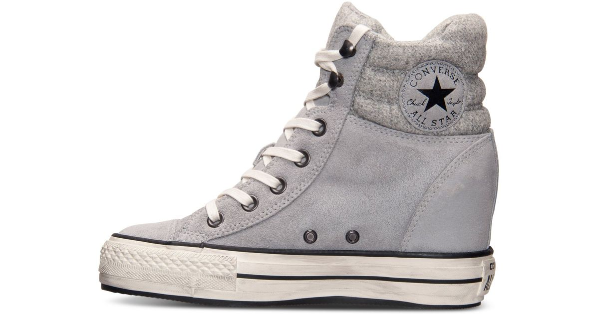 ... netherlands lyst converse womens chuck taylor all star platform plus hi  casual sneakers from finish line ... 8987ca57ccf