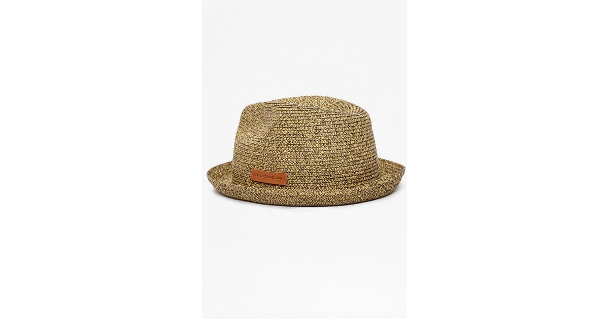 8d98ed8a Lyst - French Connection Ramone Raffia Trilby Hat in Blue for Men