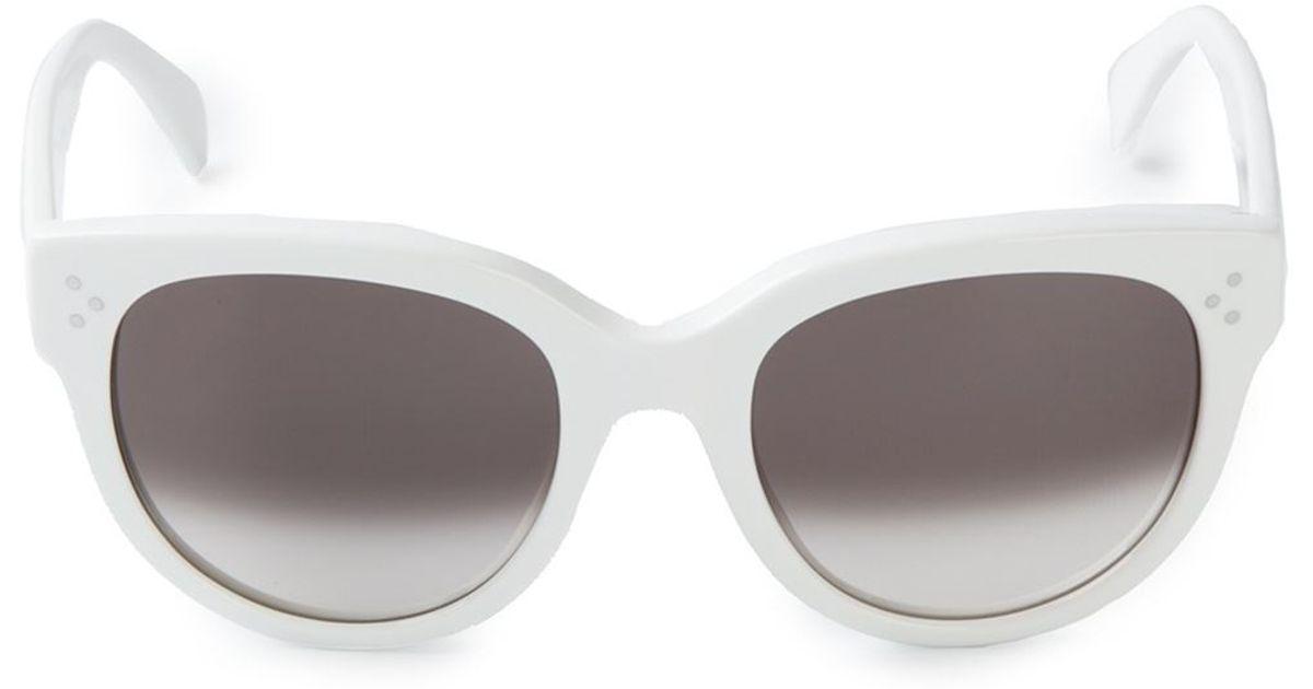 11dfa53d1b Lyst - Céline  audrey  Sunglasses in White
