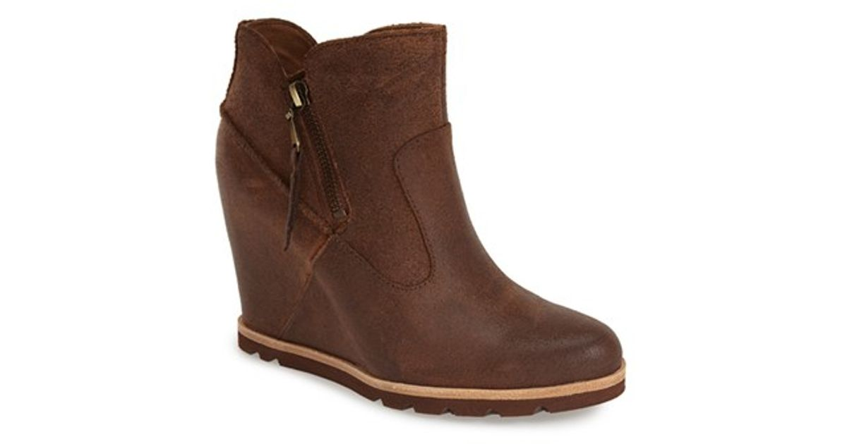 7c356076cbe5 ... coupon code for lyst ugg myrna wedge ankle bootie in brown a6a17 ead7d