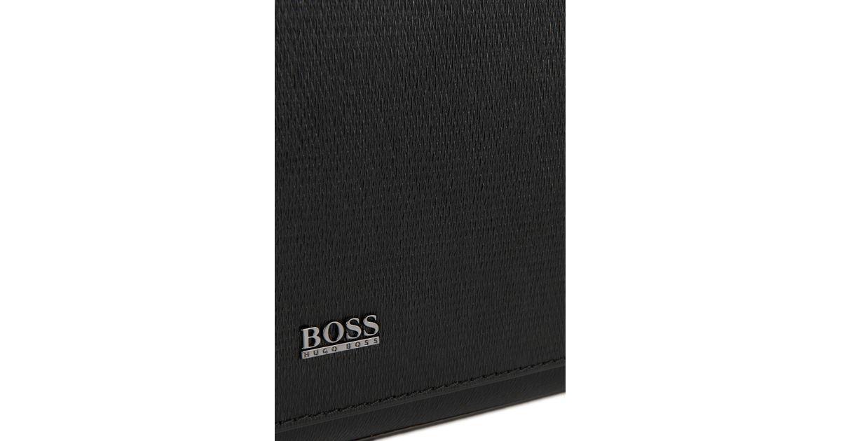 725b0090674b Boss Leather Shoulder Bag   stoby  in Black for Men - Lyst