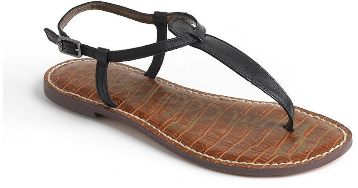 8a315cb3bed7 Lyst - Sam Edelman Gigi Thong Slide Sandals in Black