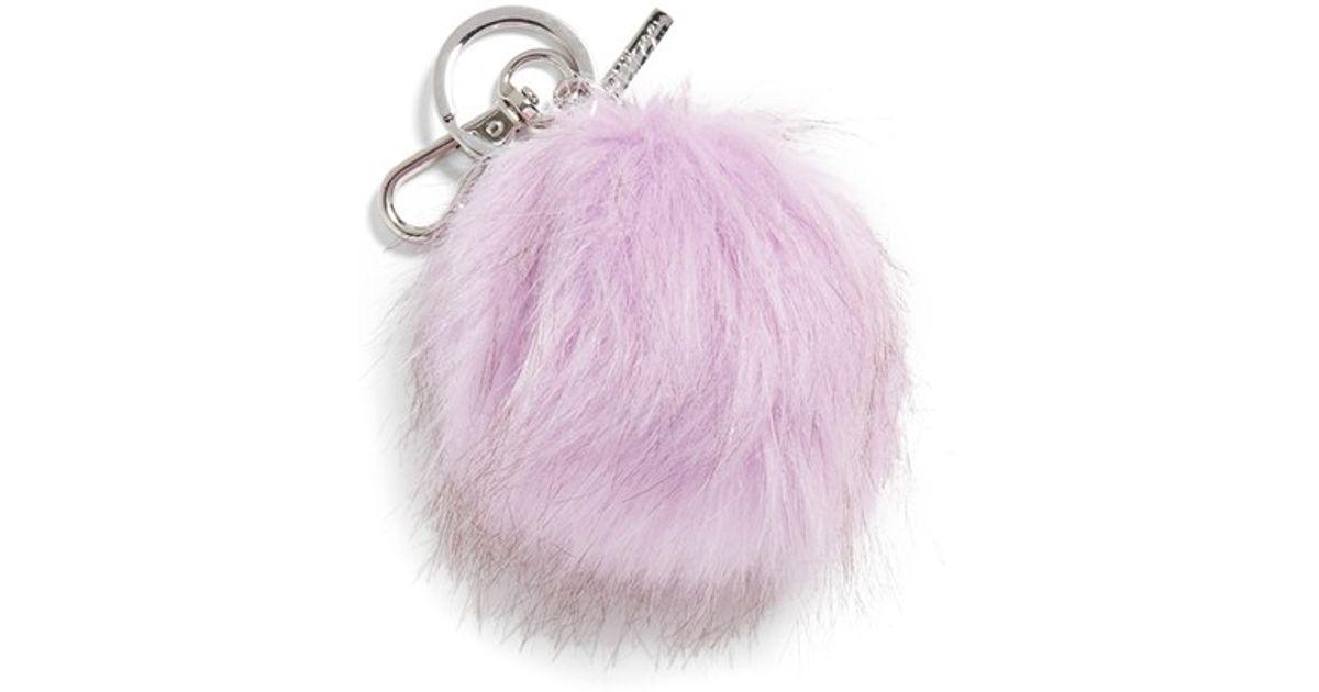 Lyst - Halogen Faux Fur Pom Bag Charm - Purple in Purple dc820988def85