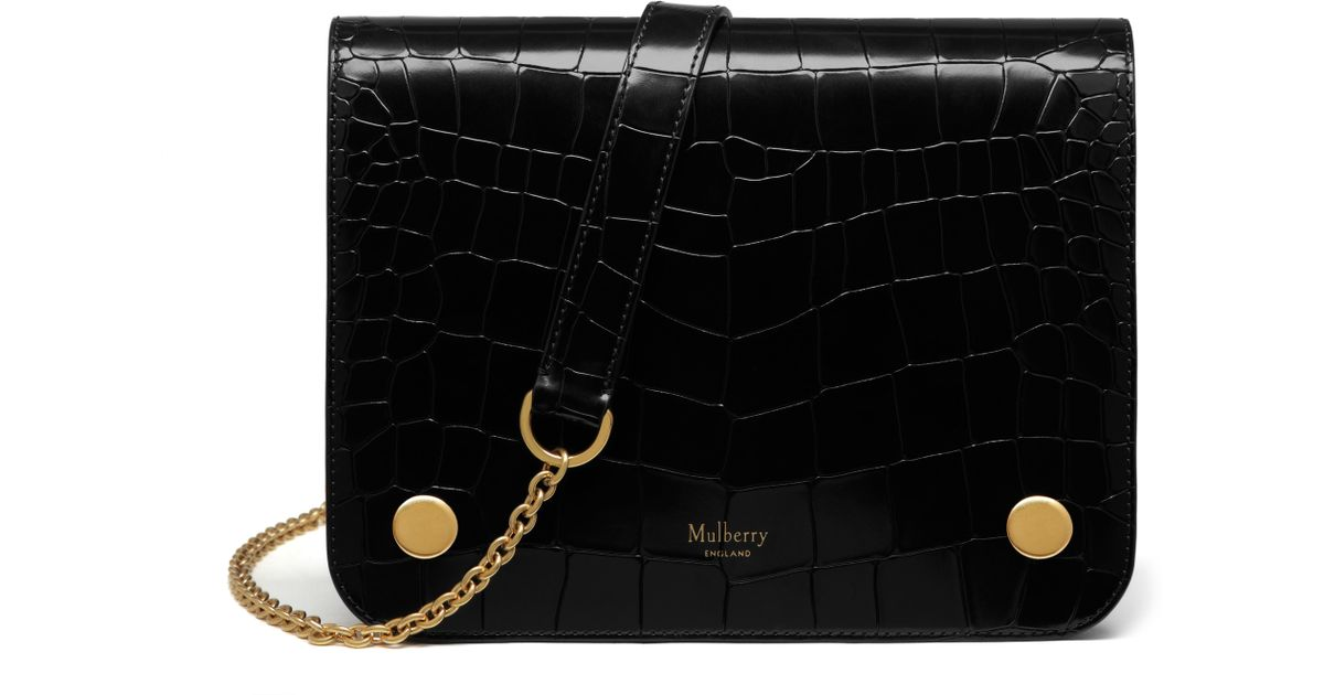 a9919fff208 Mulberry Clifton in Black - Lyst