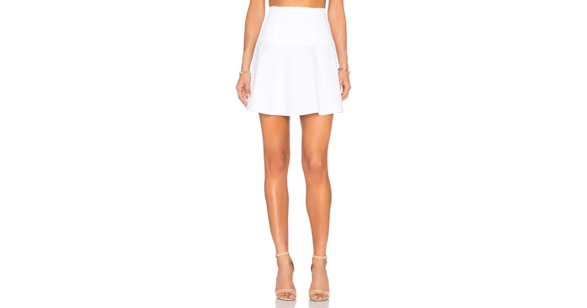 valentino cotton a line mini skirt in white lyst