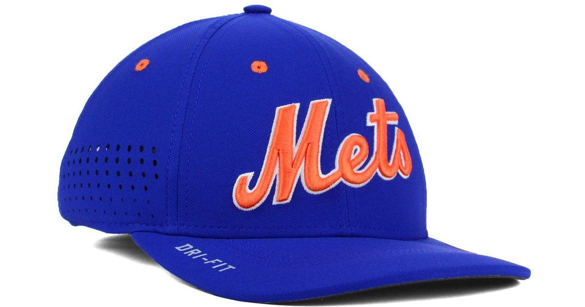 Lyst - Nike New York Mets Vapor Swoosh Flex Cap in Blue for Men 7c0a32b166a7