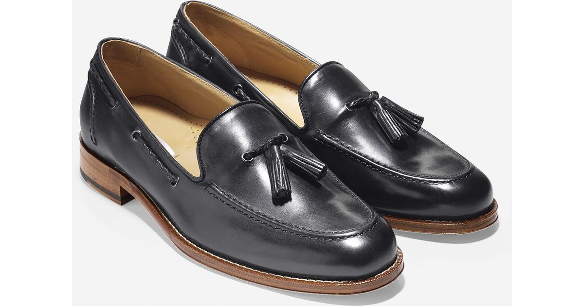 8cf9cc77eeb Cole Haan Brady Belgian Tassel Loafer in Black for Men - Lyst