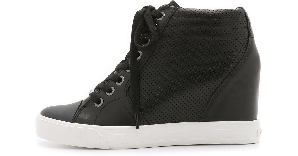 bbce27617600 DKNY - Cindy Wedge Sneakers - Black - Lyst