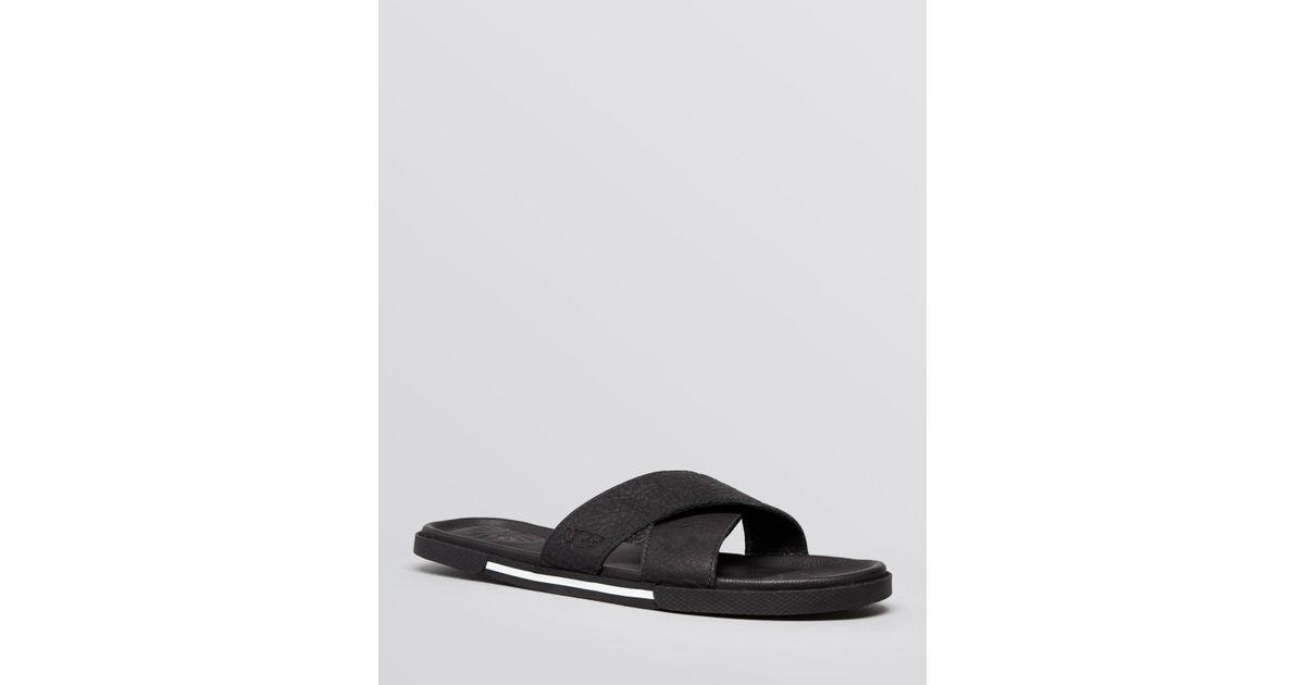 08f321533a09 Lyst - Ugg Ithan Slide Sandals in Black for Men