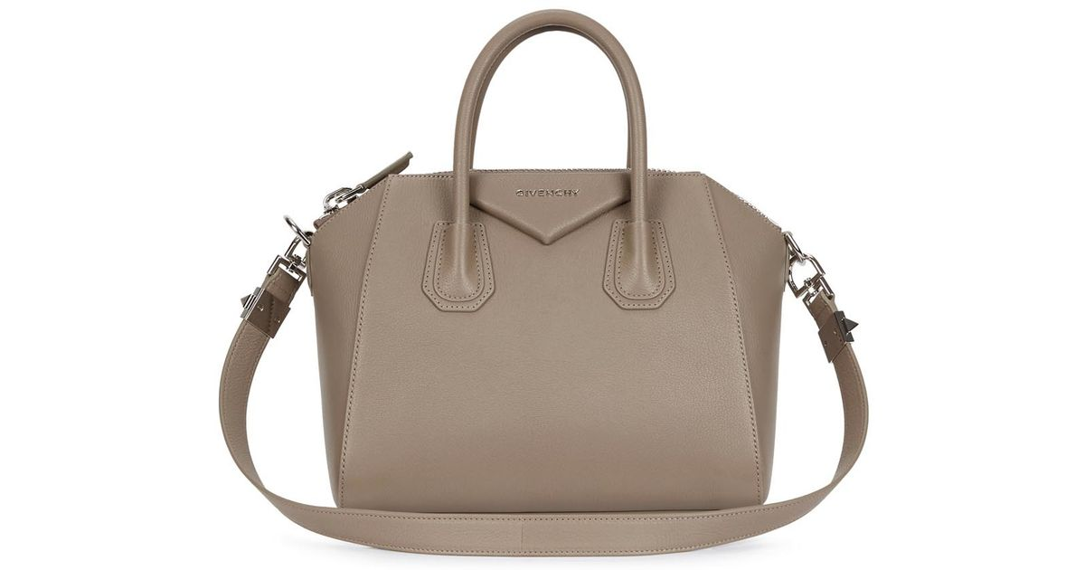 e29a0925644b Givenchy Antigona Small Taupe Leather Tote in Brown - Lyst