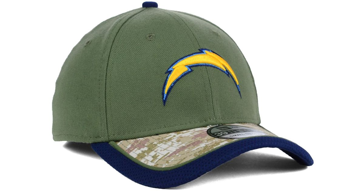 Lyst - Ktz San Diego Chargers Salute To Service 39thirty Cap in Green for  Men e1ec44230