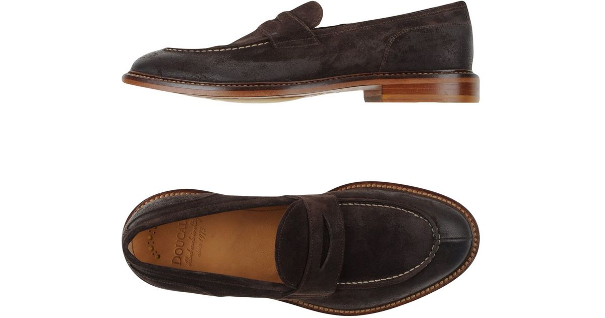 ad2bd4ea55e Lyst - Doucal s Moccasins in Brown for Men