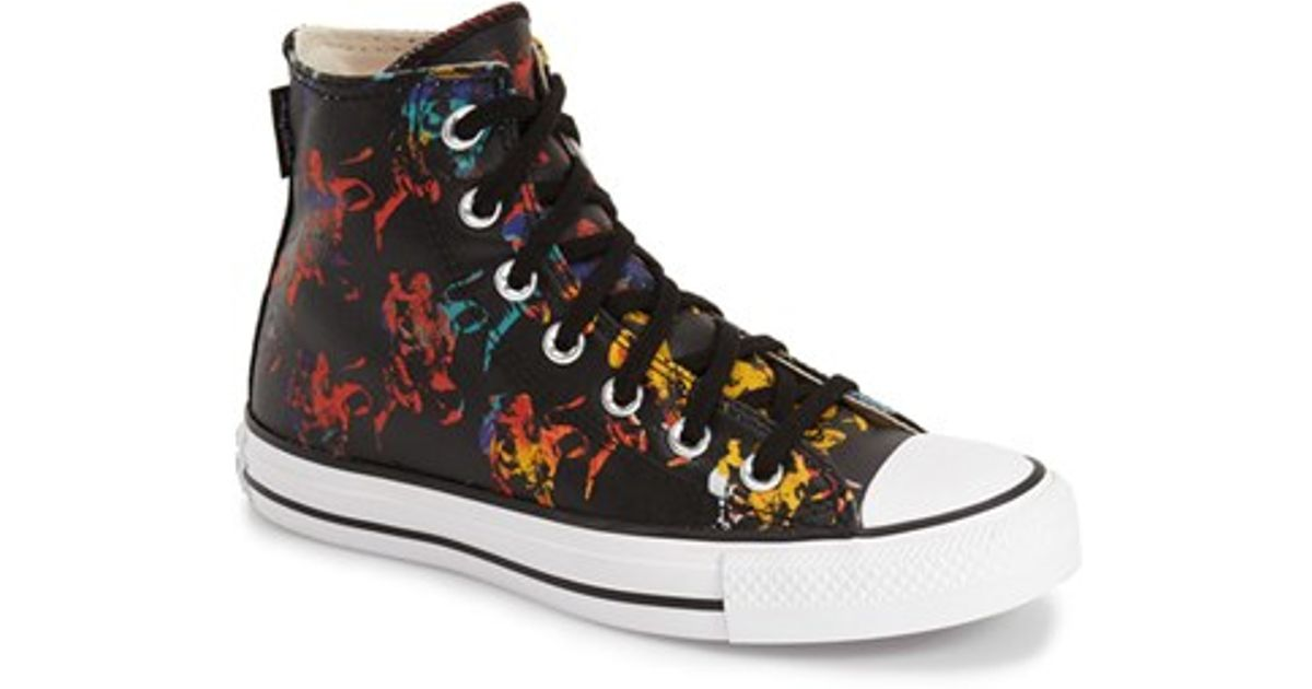5261df43855d1e Lyst - Converse Chuck Taylor All Star Andy Warhol Collection High Top in  Black