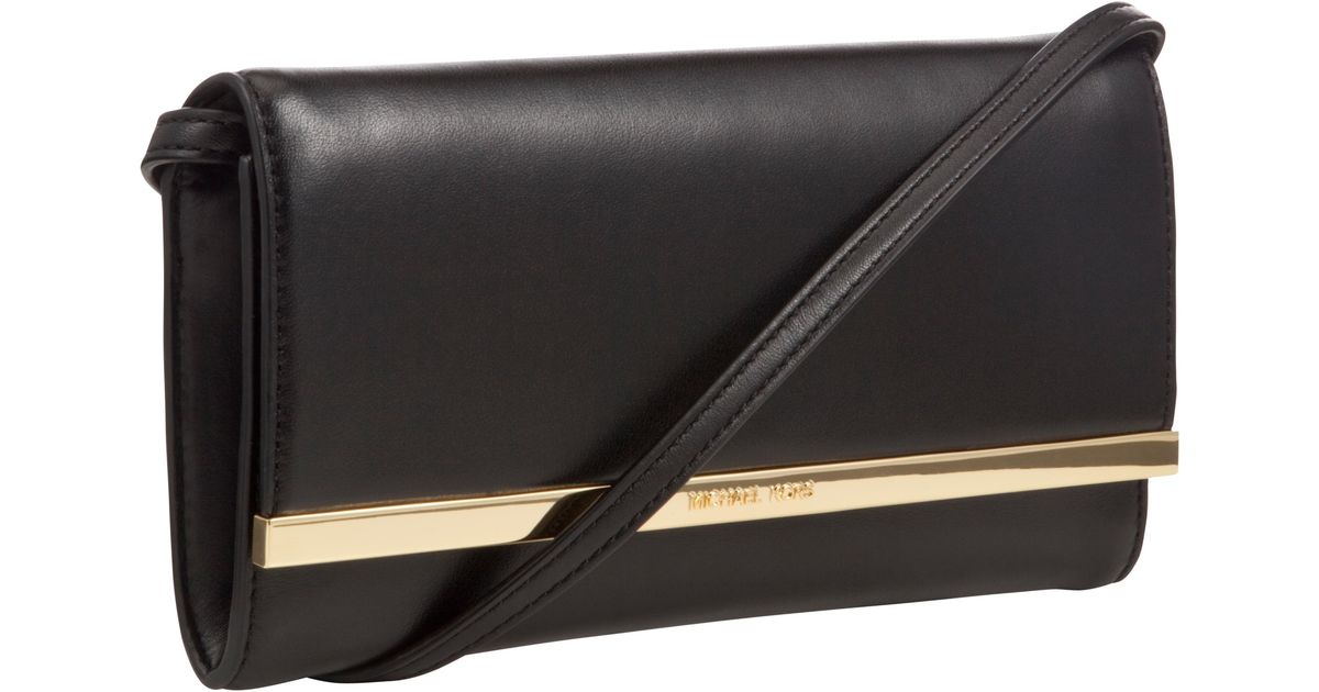 c433e4665152 MICHAEL Michael Kors Lana Leather Clutch Bag in Black - Lyst