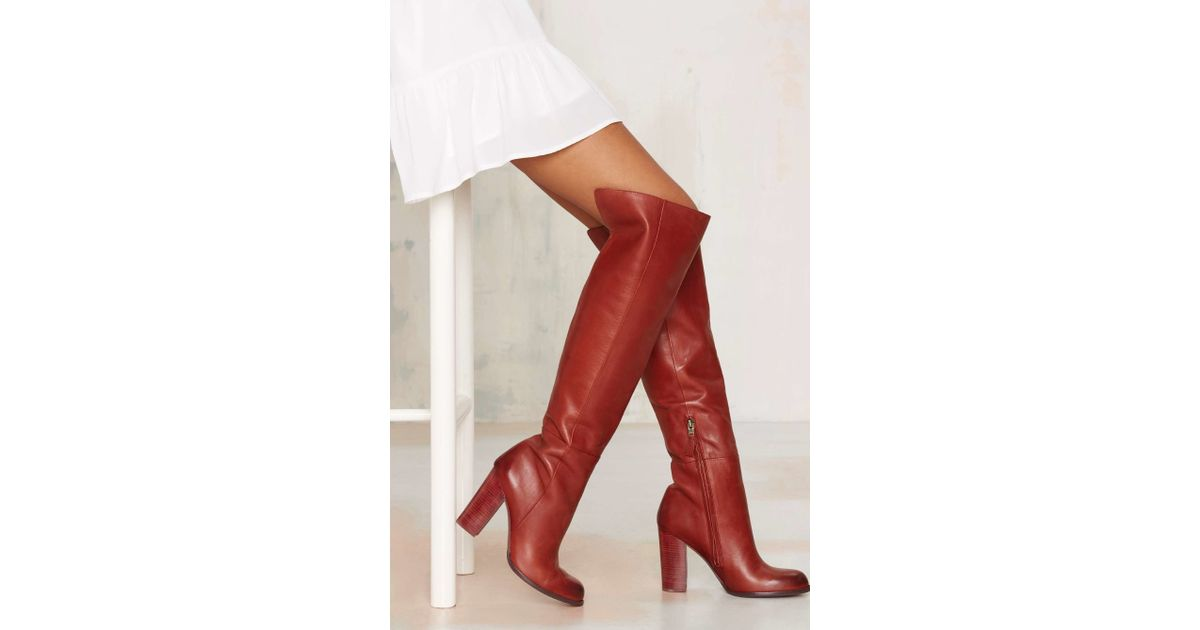 d24f5bb87a5050 Lyst - Sam Edelman Rylan Knee-high Leather Boot in Red