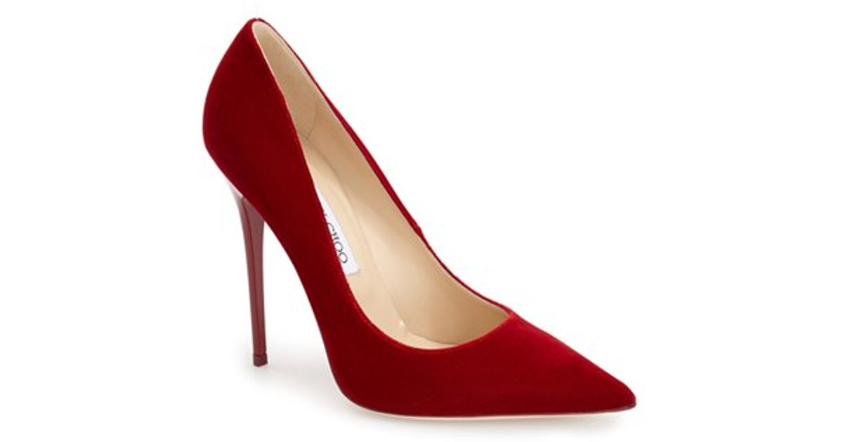 d418c7113223d Lyst - Jimmy Choo  Anouk  Pump in Red