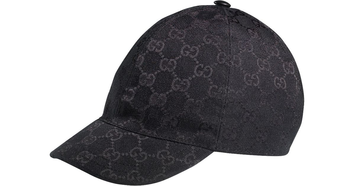 3e2a84621c Gucci Gg Baseball Cap in Black for Men - Lyst