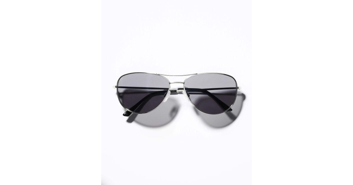a06ca5207ba35 Lyst - Ann Taylor Metropolis Sunglasses in Metallic