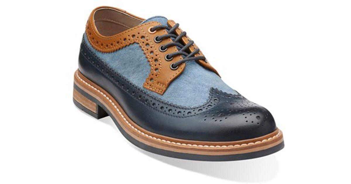 Clarks Blue Clarks 'darby Limit' Spectator Shoe for men