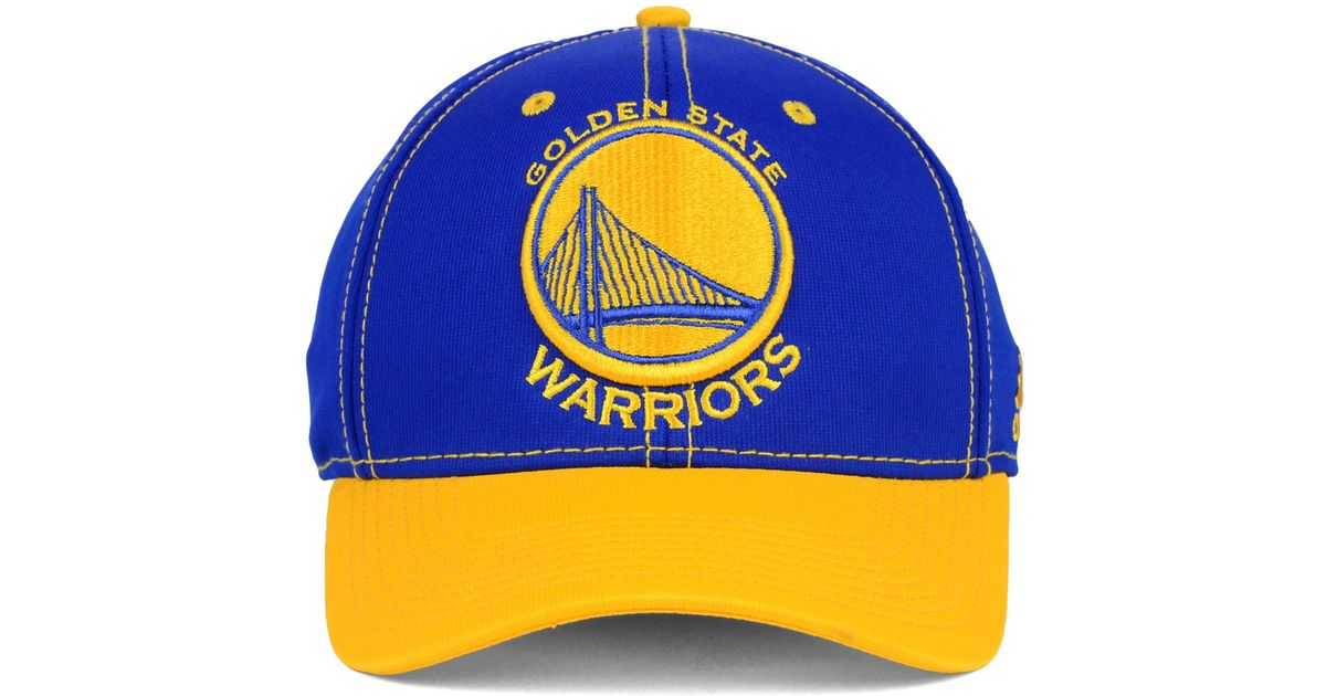Adidas Golden State Warriors 2 Tone Flex Cap In Blue For