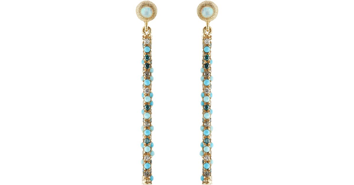 Carolina bucci Magic Wand 18kt Earrings With Turquoise ...