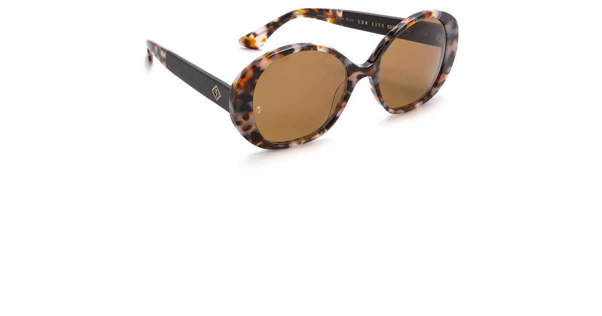 6a9d3af8a7 Wonderland Sun City Sunglasses - Carmel Tort Bronze in Metallic - Lyst