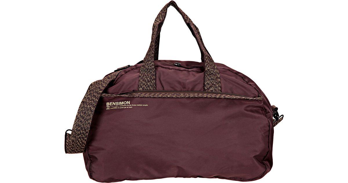 bensimon sports bag in purple lyst - Color Bag Bensimon