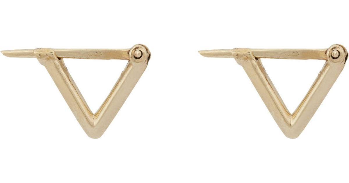 Wendy Nichol Womens Triangular Hoop Earrings RGtPXtM