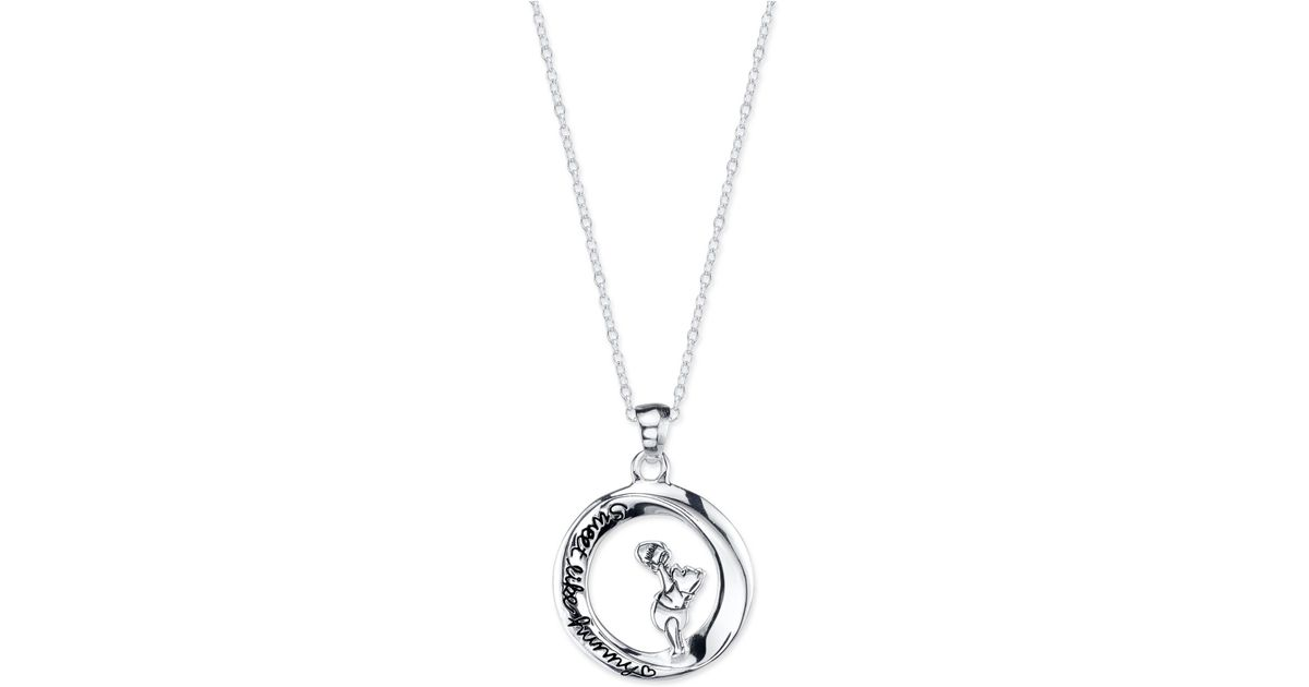 Lyst disney pooh engraved pendant necklace in sterling silver in lyst disney pooh engraved pendant necklace in sterling silver in metallic aloadofball Choice Image