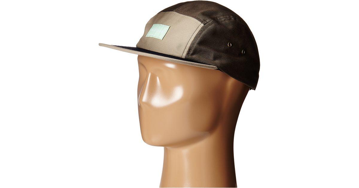 4648e9049f6 Lyst - Nixon Tide 5 Panel Hat in Brown