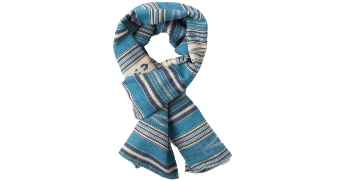 911a17bdfcfe8 Faherty Brand Shelter Scarf in Blue for Men - Lyst