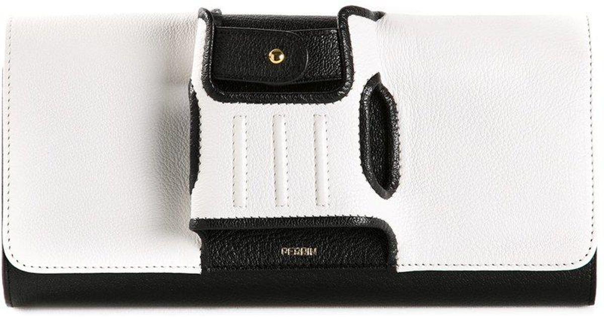 85264e144c02db PERRIN Paris 'capitale' Glove Clutch in White - Lyst