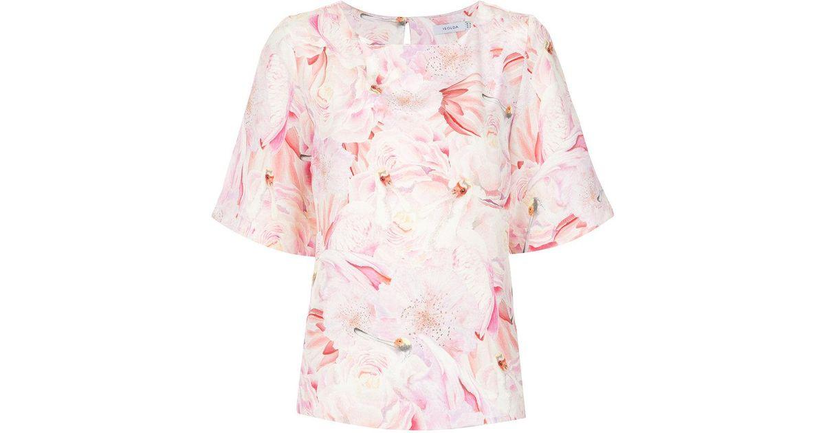 printed Jasmine blouse - White Isolda Sneakernews Online Manchester Bzvb4k