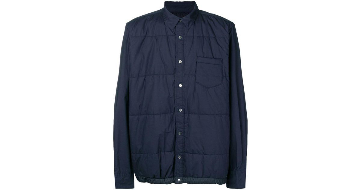 Zipped Blue In Fitted Men Jacket Lyst Sacai For Fx75qZnn