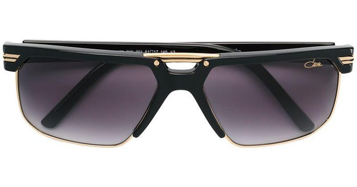 e7afece360f Cazal Square Tinted Sunglasses in Metallic - Lyst